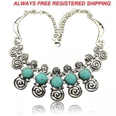 FREE SHIPPING WITH TRACKING    Genuine Turquoise Carved Flossy Silver GP Tibet Silver Pendant Necklace LINLITBB1161K    Quality: AAA+++  Item Condition: 100% Brand New  Craftsmanship: Superb  Color: See Picture  Material: Metal, Turquoise  Approximate Size: Circumference Of Chain, 440mm/17.32inches  Width Of Pendant,190mm/7.48nches