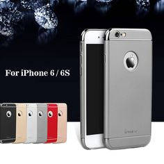 IPAKY for iPhone 6 s 4.7 Coque Hard Cover Bag 3-In-1 Electroplating Plastic PC Hard Protection Phone Case for iPhone 6s fundas