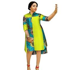 Women Maxi Dress African Print Dresses for Women Three-Quter Sleeve Dress Women – African Fashion Dresses - African Styles for Ladies African Fashion Ankara, African Fashion Designers, Latest African Fashion Dresses, African Inspired Fashion, African Dresses For Women, African Print Fashion, African Attire, African Wear, African Print Dress Designs