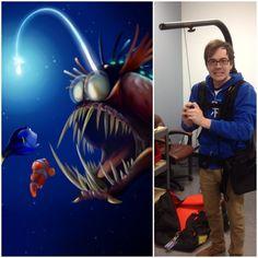 Trevor rocking the Easyrig or Finding Nemo anglerfish? #whoworeitbetter #LensRentals #Easyrig
