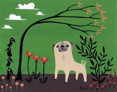 Image result for whimsical pug art