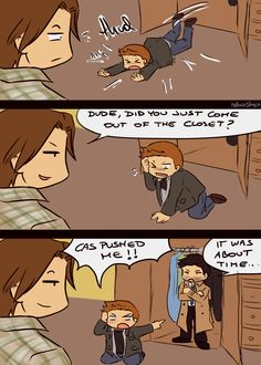 I.....I couldn't help it. This is just hilarious!! Whether or not you ship Destiel, this is funny. XD