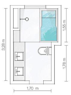 Banheiros pequenos, mas com espaço para tudo - Casa