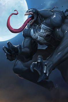 Venom Final by nJoo on DeviantArt Spiderman Venom, Marvel Venom, Marvel Villains, Spiderman Art, Marvel Heroes, Deadpool Wolverine, Black Spiderman, Comic Book Characters, Marvel Characters