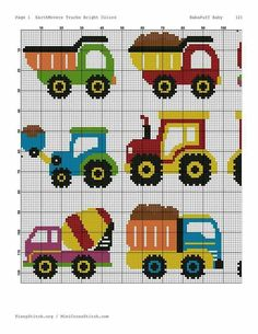 Camiones cross stitch trucks