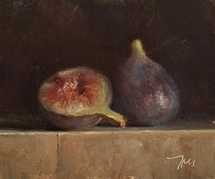 Still life with two figs