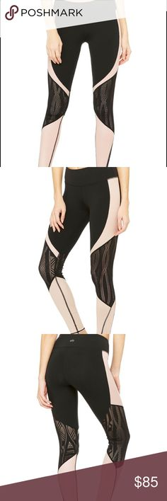 Alo Yoga Vitality legging size small Black and blush colored, perfect condition. Worn a few times only. ALO Yoga Pants Leggings
