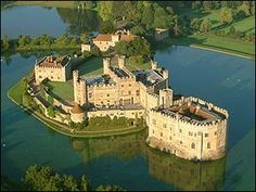 Leeds Castle - reported to be haunted by a large black dog that terrorizes the grounds and is said to be the omen of death.