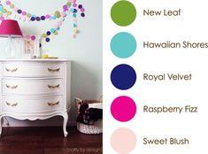 February 2015 Color Play: New Leaf, Hawaiian Shores, Royal Velvet, Raspberry Fizz, Sweet Blush