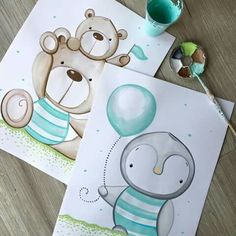 Wall Clock Nursery, Nursery Art, Baby Painting, Painting For Kids, Lama Animal, Baby Canvas, Baby Illustration, Flower Background Wallpaper, Paper Flowers Diy