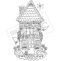 Tall House Digi Stamp FREE Download