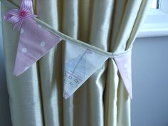 Hey, I found this really awesome Etsy listing at https://www.etsy.com/listing/113084387/curtain-bunting-tie-backs-in-pink