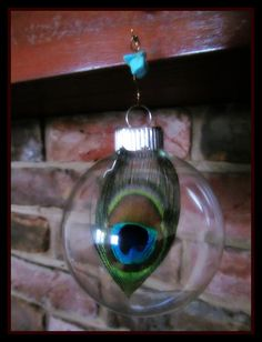 peacock christmas ornament boho bulbs gypsy by dieselboutique