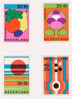 William Pars Graatsma _ Test print for Dutch stamp designs (1972)