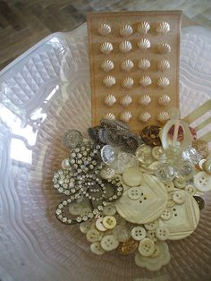 buttons ~ shell and mother of pearl