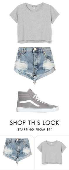 """""""Outfit #37"""" by picklewhoopie ❤ liked on Polyvore featuring One Teaspoon, Monki, Vans and shorts"""