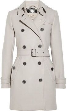 Burberry Brit Mid-length wool-blend trench coat on shopstyle.com