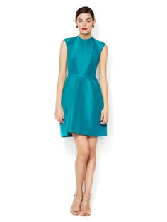 Structured Silk Keyhole Dress by Monique Lhuillier at Gilt