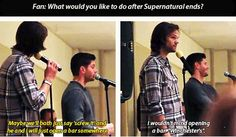 Jensen and Jared convention panel. YES PLEASE. and make it a chain so i don't have to go far!