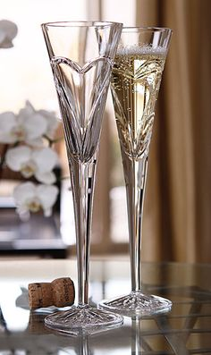 Waterford Wishes Love and Romance Heart Flutes