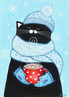 First Snowfall Cocoa by Annya Kai.