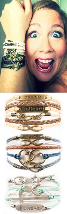 Choose your favorite 3 bracelets for FREE - just pay shipping! Over 100 designs and adding more monthly. Free bracelet deal ends 12/31/17. Coupon: TRY3PINTEREST --> http://www.gomodestly.com/try3pinterest/