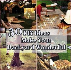 With warmer weather on the way, there are some really cool ideas here for sprucing up your backyard!