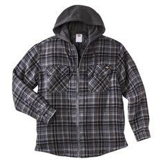 Dickies® Men s Quilted Flannel Fleece Hooded Shirt Jacket - Assorted Colors  Flannel Sweatshirt 9577ea0391b2