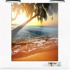 Beautiful Sunset on Tropical Beach - Seashore Glossy
