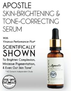 ORGANIC Antipodes Apostle Skin-Brightening & Tone-Correcting Serum. Hydrates and evens tone / reduces pigmentation. Love this brand!