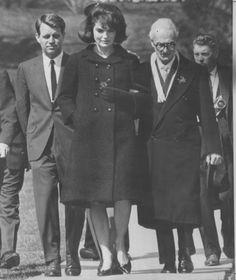 Nov 25 1963, visiting JFK's grave later that evening.