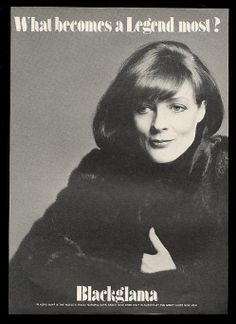 1980 Maggie Smith Photo Blackglama Fur Fashion Vintage Print Ad | eBay