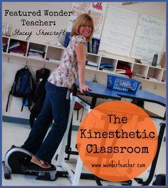 The Kinesthetic Classroom featuring Stacey Shoecraft - wonderteacher.com