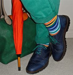 Project Raw chinos, Unsimply Stitched socks, navy brogues…