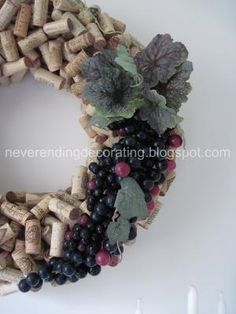 Wine cork wreath by shelley