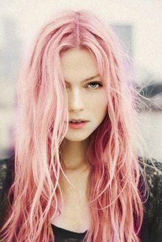 pink hair cheveux rose - Coloration Pastel Cheveux