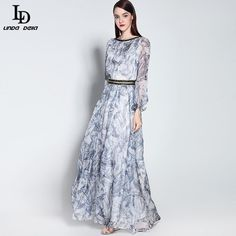Luxury Women Stunning Elegant Floral Embroidery Mesh Gauze Maxi Dress Isn`t it awesome? www.storeglum.com... #shop #beauty #Woman's fashion #Products