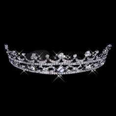 Wedding Tiaras / Bright silver alloy wedding tiaras
