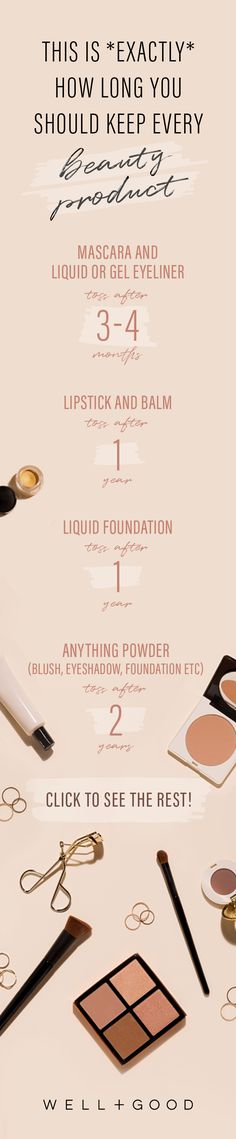 How long you should keep beauty products for