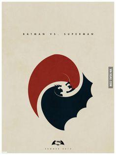 Batman V Superman Simplistic Movie Poster