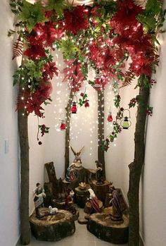 Best Holiday Christmas Home Decorating Ideas Christmas Crib Ideas, Diy Christmas Decorations Easy, Rustic Christmas, Christmas Home, Christmas Holidays, Christmas Crafts, Christmas Ornaments, Christmas Nativity Scene, Christmas Villages