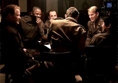 ohcaptainmycaptain1918:I love gifs like these. Because for just a moment, I can pretend that this really is Steve and the Howling Commandos - and remember back to a time when Steve might've had his moments where he really did laugh like that/ And despite everything going on around them and the less-than-ideal circumstances, the Commandos were a family - a band of brothers - who were happy alongside each other in their own way, and shared times like these, even if they were few and far…