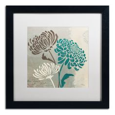 'Chrysanthemums II' by Wellington Studio Framed Graphic Art