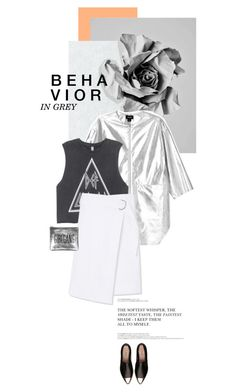 """""""Behavior in grey"""" by juhh ❤ liked on Polyvore featuring TOMS, kozo, Monki, H&M, Tory Burch and Miu Miu"""