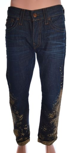 True Religion Men Jeans Size 34 Ricky Straight Half & Half NWT $298.00 #TrueReligion #ClassicStraightLeg