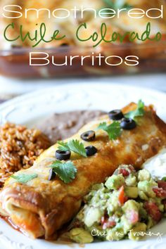 Smothered Chile Colorado Burritos (CROCK POT)! It doesn't get much easier or delicious than this meal!  It is fantastic! #foods