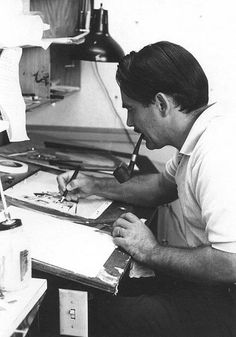 Walt Peregoy, artist at work.
