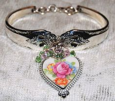Spoon Bracelets Silver Spoon Bracelets Broken China Jewelry and Charms