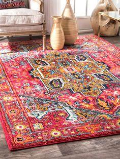 nuLoom Raya Medallion Rug Colorful Rugs, Bohemian Rug, Design