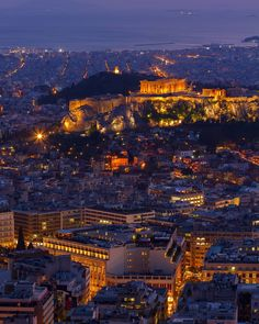 Athens by night! #VisitGreece #Greece #Athens